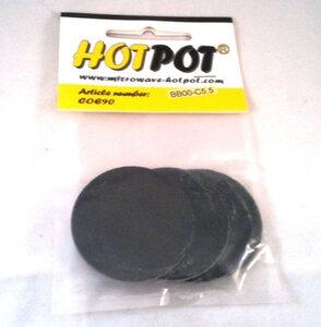 COE90 Voorgesneden cirkels zwart opaal - 5,5 cm (4 stuks)