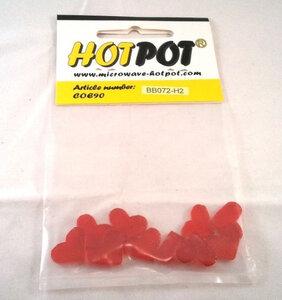 COE90 Voorgesneden  hartjes rood doorzichtig - 2 cm (10 stuks)