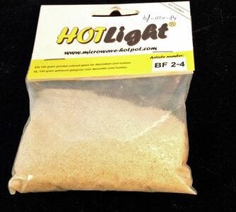 glas COE 85 hotlight Frits transparant amber 100g