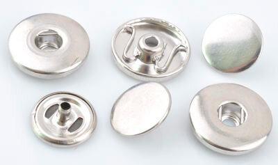 DoubleBeads EasyButton metalen kastjes om zelf op stof te plaatsen (3 sets)