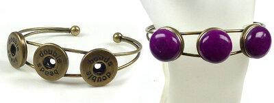 Doublebeads EasyButton metalen armband ± 18cm (oudbronskleur)