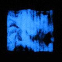Glow glas dust glow in the dark - dark blue (5g)