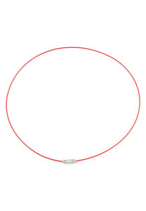 Metalen halsketting met sluiting rood ± 45cm (± 1mm dik)