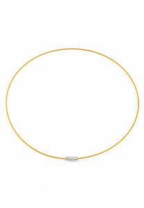 Metalen halsketting met sluiting goudkleur ± 45cm (± 1mm dik)