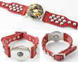 DoubleBeads-EasyButton-XL-leren-armband(100-top-leer)±18-22cm(rood)